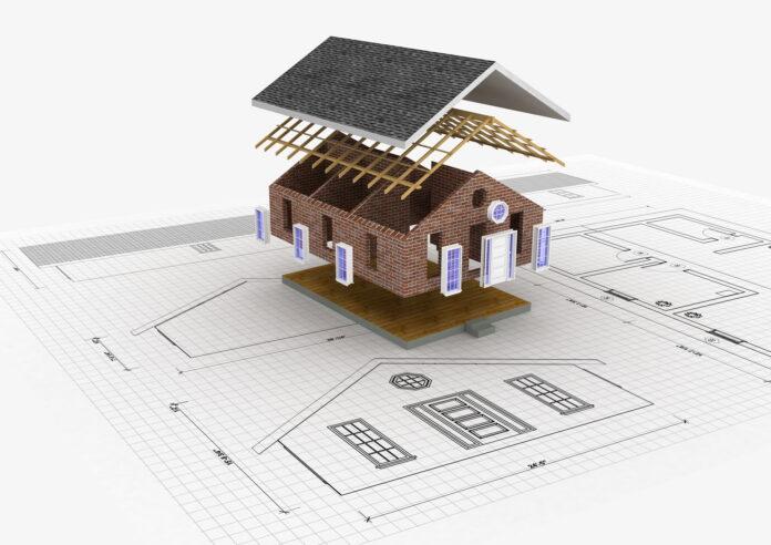 Tegning til byggeri